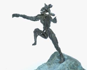 bronsplastiek De Sprong