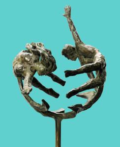 bronsplastiek Het Paar-II