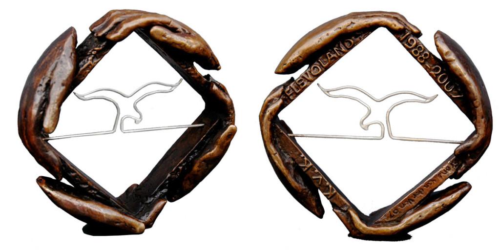 bronzen penning Kamer van Koophandel Flevoland