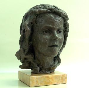 Portretbuste 'Alice-II', 2015, bronspolyester