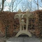 beeld gemaakt van pirpur en Jesmonite kunststeen