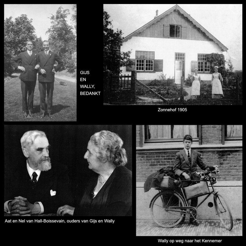 zwart-wit afbeeldingen en tekst op granieten plaat over het leven en handelen van de bankiers van het verzet en hun medewerkers
